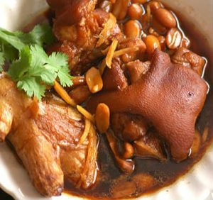Pig Trotters Black Vinegar with Peanuts