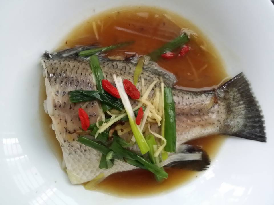 confinement food menu - Steam Fish with Ginger